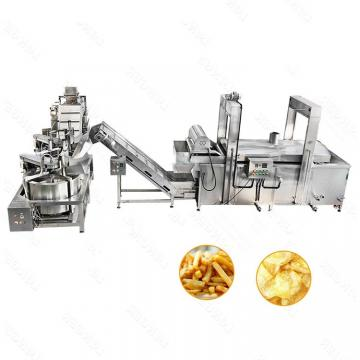 SUS 304 Industrial Mesh Belt Frying Machine for Chips French Fries